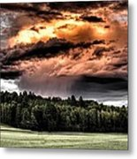 Field Of Dreams From Rain Above  Metal Print