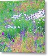 Field Of Flowers In Nature Metal Print
