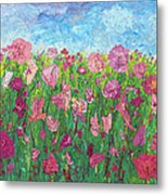Field Of Pink For The Ladies Metal Print