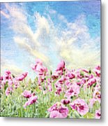 Field Of Poppies Stillliefe Metal Print