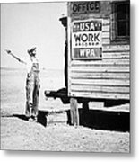 Field Office Of The Wpa Government Agency Metal Print