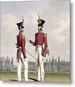 Field Officers Of The Royal Marines Metal Print