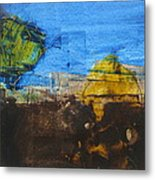 Field With Trees Metal Print