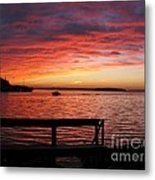 Fiery Afterglow Metal Print