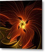 Fiery Metal Print by Amanda Moore