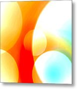 Fiery Bubbles Metal Print