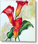 Fiery Callas Metal Print