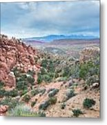Fiery Furnace Viewpoint - La Sal Mountains - Arches National Park - Ut Metal Print