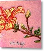 Fiery Hibiscus Metal Print