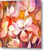 Fiery Magnolias Metal Print