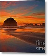 Fiery Ocean Stream Metal Print by Adam Jewell