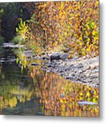 Fiery Reflection At Lost Maples Metal Print