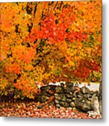 Fiery Rock Wall Metal Print