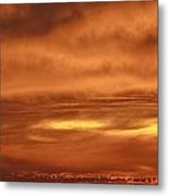 Fiery Sky Burning Bright Above The Farallon Islands Metal Print