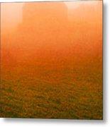 Fiery Sunrise On The Farm Metal Print