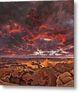 Fiery Sunrise Over Dead Horse Point State Park Metal Print