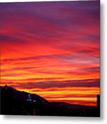 Fiery Sunset Metal Print