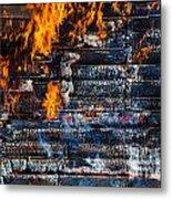 Fiery Transformation Metal Print