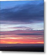 Fiery Winter Sunset  Metal Print