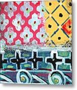 Fiesta 6- Colorful Pattern Painting Metal Print by Linda Woods