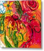 Fiesta Flowers Metal Print