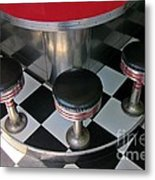 Fifties Diner Detail Metal Print