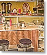 Fifty's Lunch Counter  Nostalgic Metal Print