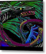 Fight The Dragon Metal Print