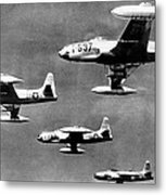 Fighter Jet Against Communists Metal Print