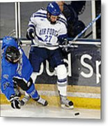 Fighting For The Puck Metal Print