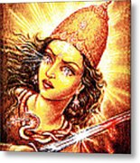 Fighting Goddess Metal Print