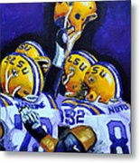 Fighting Tigers Of Lsu Metal Print by Terry J Marks Sr