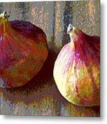 Figs Still Life Pop Art Metal Print