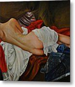 Figurative Nude Of A Women Metal Print