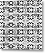 Figure 8 Black And White Pattern Metal Print