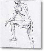 Figure Drawing Study II Metal Print