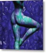 Figure Study #03 - 'spin Blue'  Metal Print