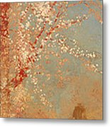 Figure Under A Blossoming Tree Metal Print