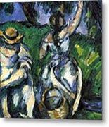 Figures By Cezanne Metal Print