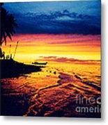 Fiji Paradise Sunset Metal Print