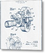Film Camera Patent Drawing From 1938 - Blue Ink Metal Print