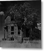 Film Homage Anthony Perkins Janet Leigh Alfred Hitchcock Psycho 1960 Vacant House Black Hills Sd '65 Metal Print