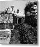 Film Homage Barbara Payton Bride Of The Gorilla 1951 Gorilla Pitchman Tucson Arizona July 4th 1991 Metal Print