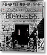 Film Homage Butch Cassidy 1969 Russell And Sheldon Bicycles C.1895 Tucson Arizona 2008 Metal Print