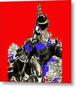 Film Homage Cameron Mitchell The High Chaparral Fighting Apache Publicity Photo Collage Metal Print