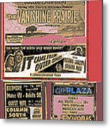 Film Homage Collage Drive-in Ads 1953 Tucson Arizona 2008 Metal Print