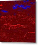 Film Homage Damnation Alley 2 1977 Demolition Derby Tucson Arizona 1968-2008 Metal Print by David Lee Guss