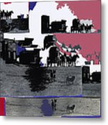 Film Homage Dirty Dingus Magee Collage Number 2 1970-2012 Mescal Arizona Metal Print