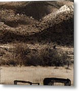 Film Homage End Of The Road 1970 Bisected Car Ghost Town Dos Cabezos Arizona 1967-2008 Metal Print