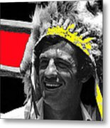 Film Homage Jean-paul Belmondo  Fake Indian Bonnet Love Is A Funny Thing  Old Tucson Az 1969-2008 Metal Print
